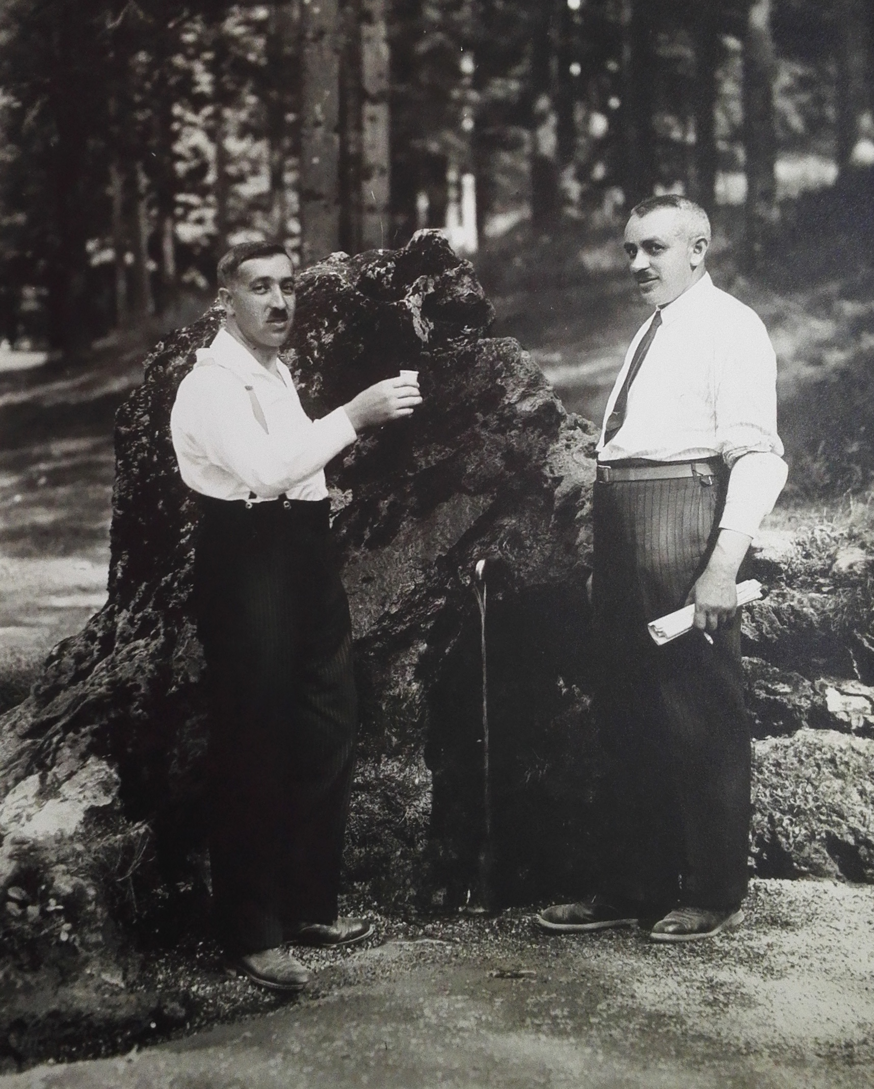 Poslední představený pacovské židovské obce Emil Lederer (vlevo) s bratrem Viktorem.