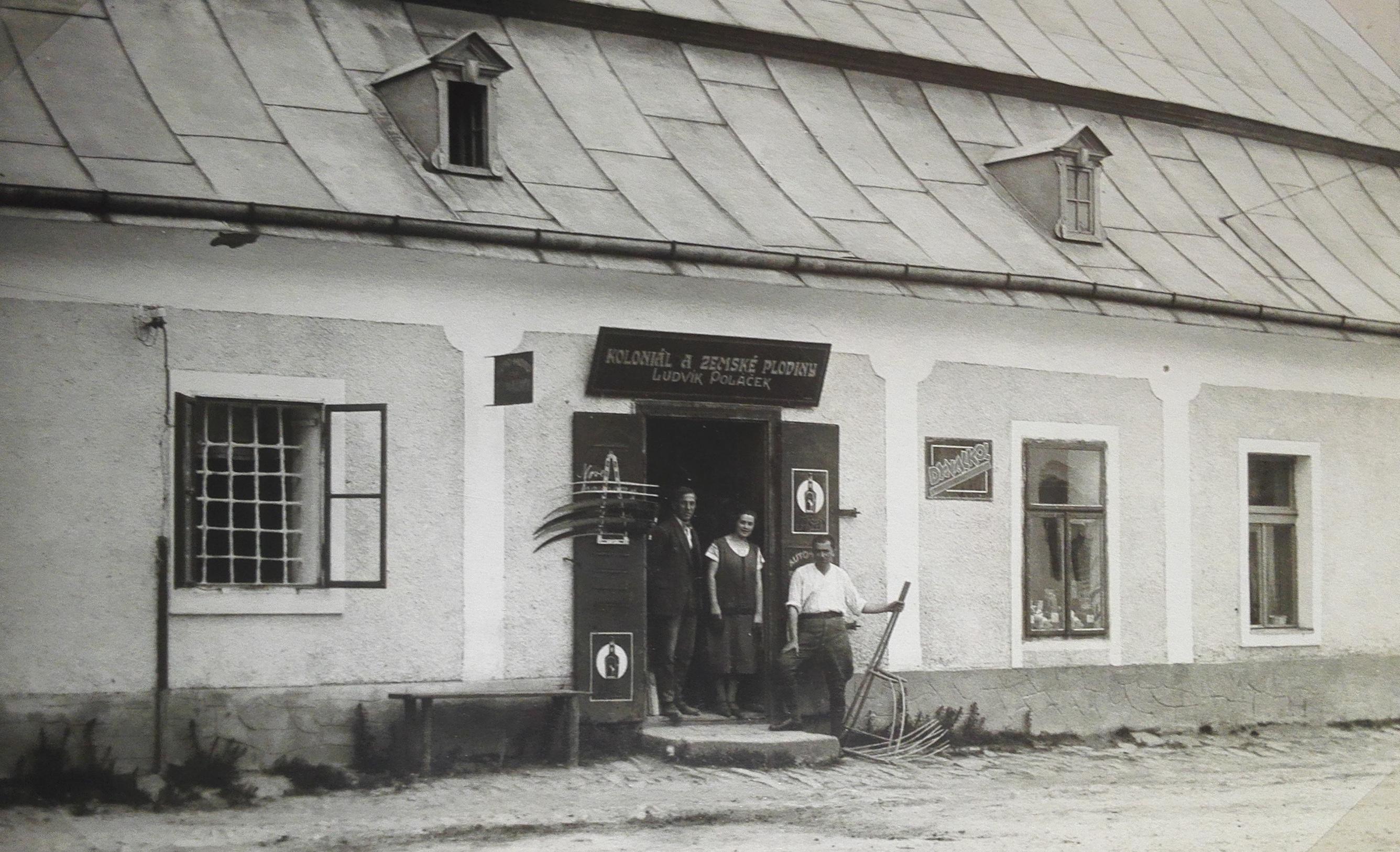 Obchod Ludvíka Poláčka v Myslíkově ulici