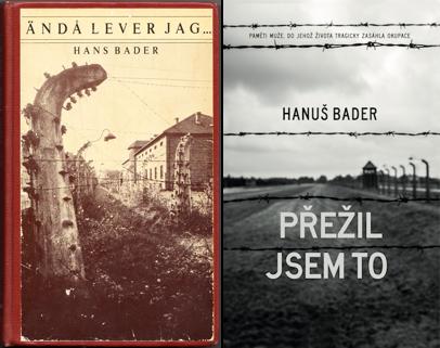 Švédské a české vydání pamětí Hanuše Badera
