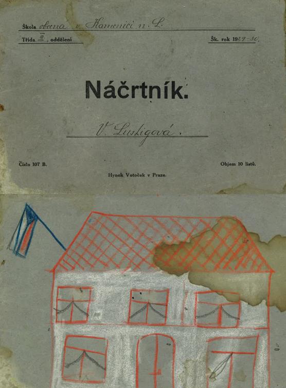 Kresba z náčrtníku V. Lustigové