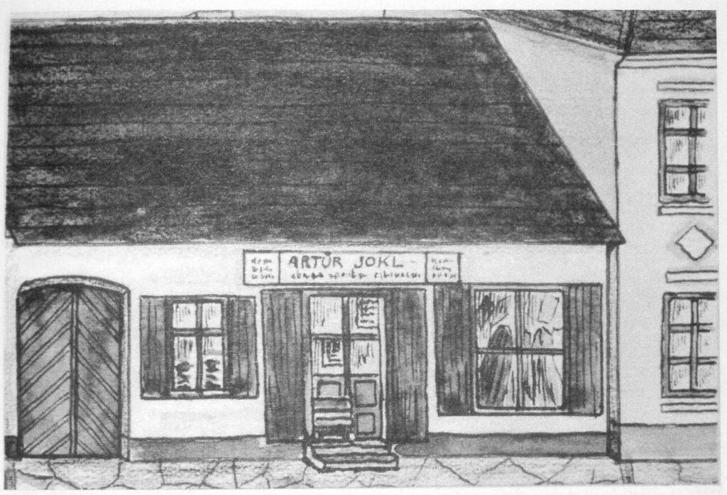 Dům Artura Jokla, sídlo židovské modlitebny v Chýnově.